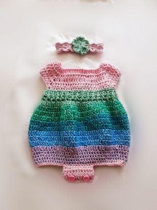 Handmade Crocheted Baby Girl 0-3 Months