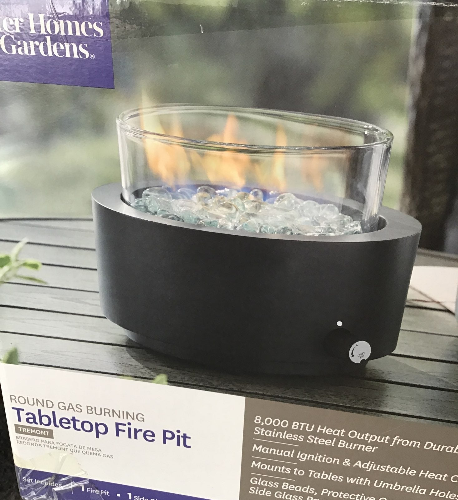 Table Top Gas Fire Pit