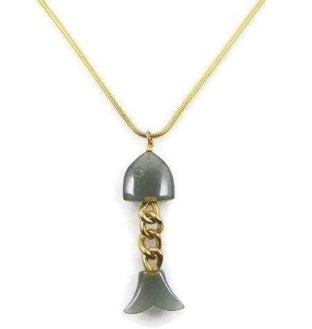 Vintage 80s Anne Klein Fish Necklace