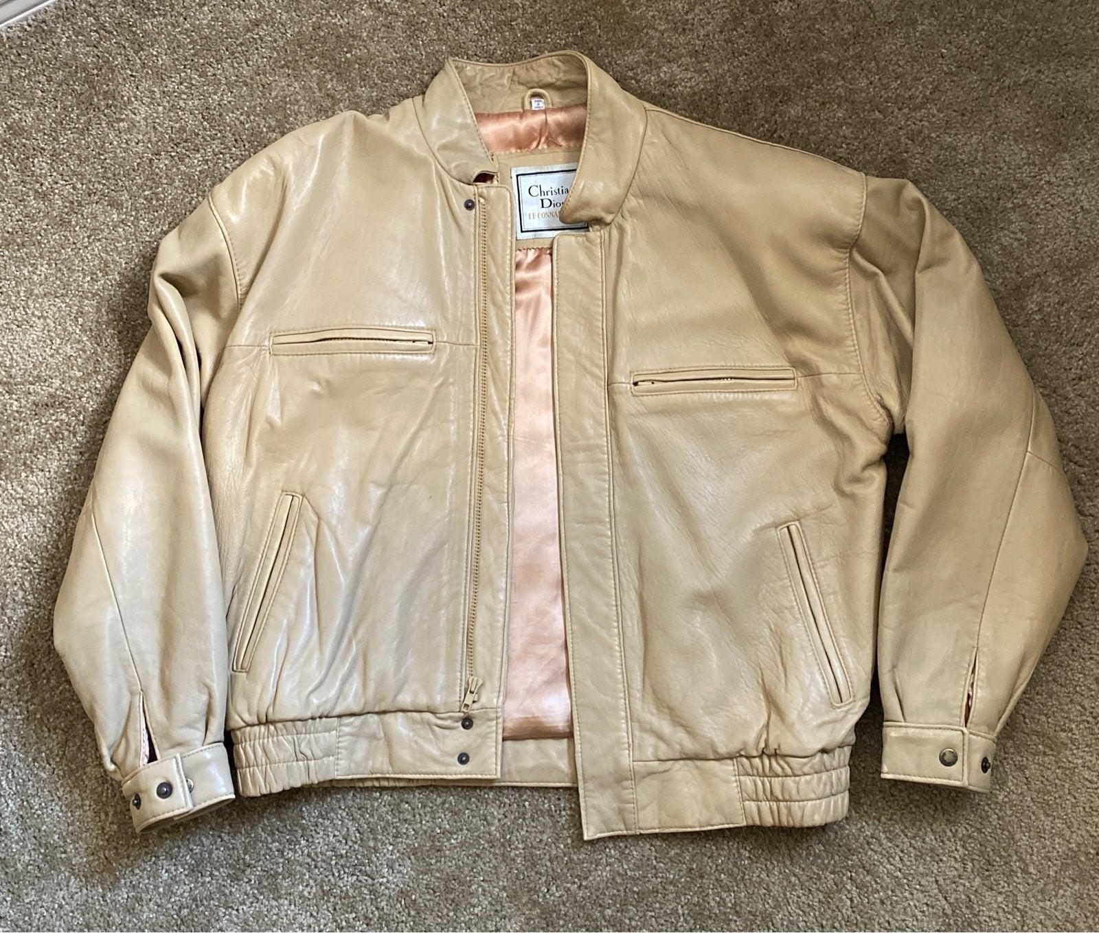 Vintage Christian Dior Leather Jacket
