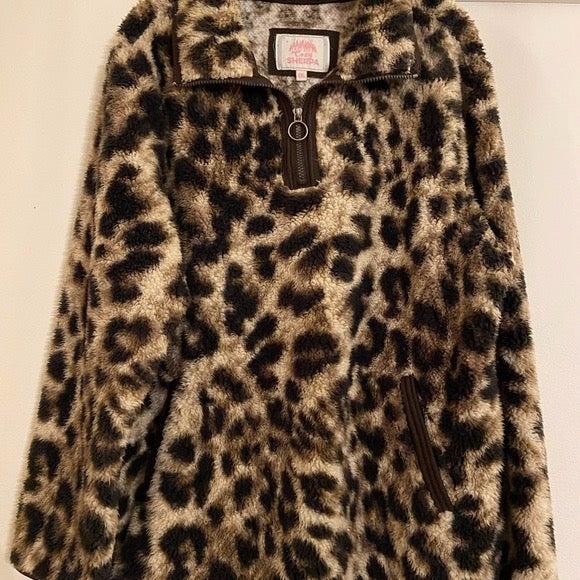 cheetah print sherpa PLUS SIZE