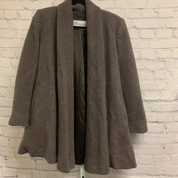 MAX MARA - Open Front Wool Blend Open Fr