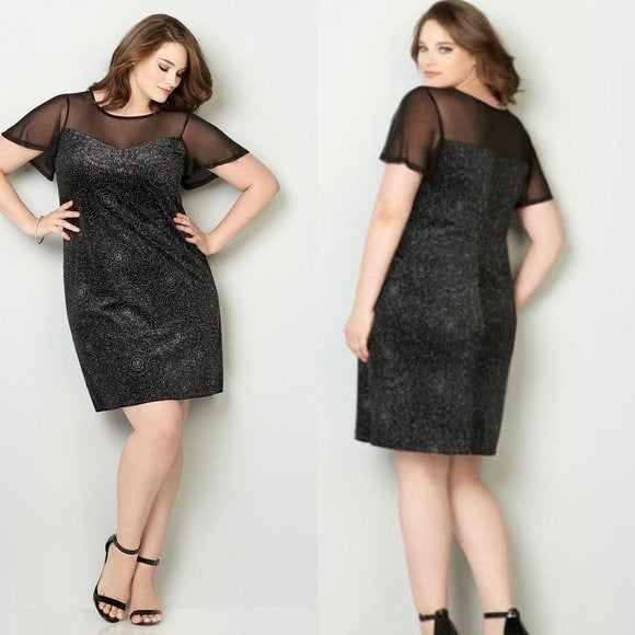 NWT Avenue illusion neckline dress 22/24
