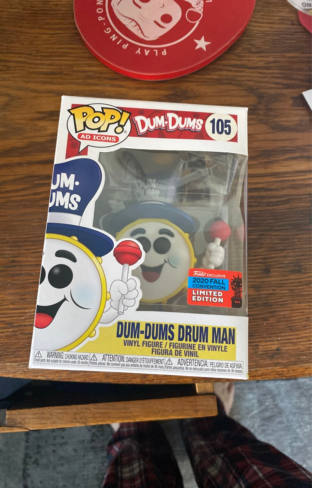 Dum Dums Drum Man Funko Pop