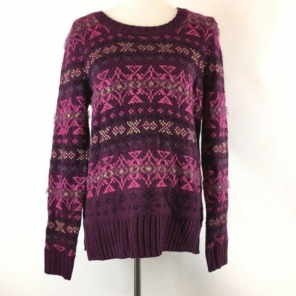 Maurices Burgundy Boho Sweater