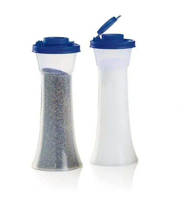 Tupperware Hour Glass Salt and Pepper