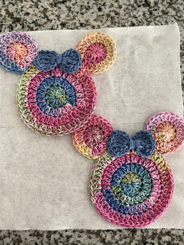 Disney Crochet Minnie Mouse Coaster Set