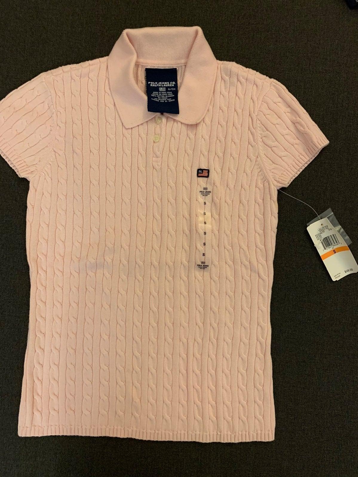 Ralph Lauren knitted polo shirt!