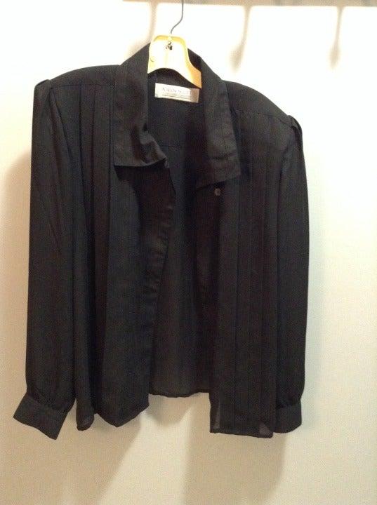 Black Karen Scott button up blouse 10