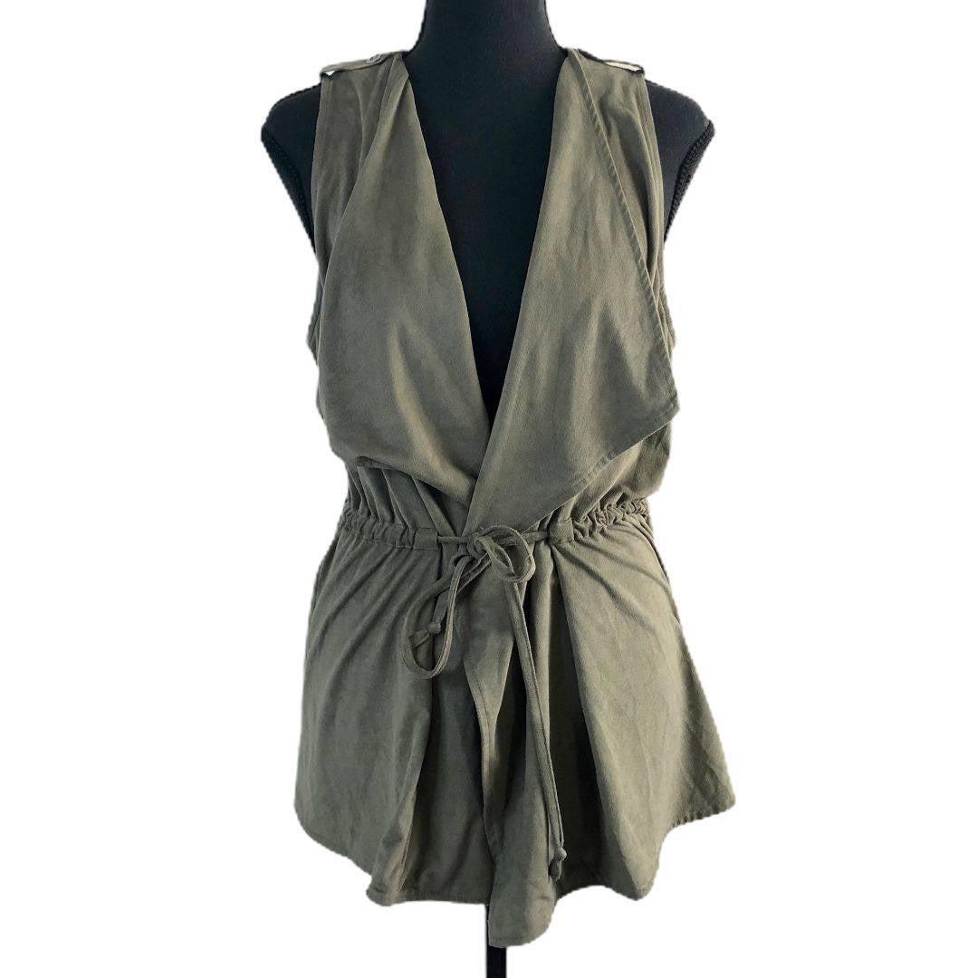 UMGEE Green Drape Front Vest