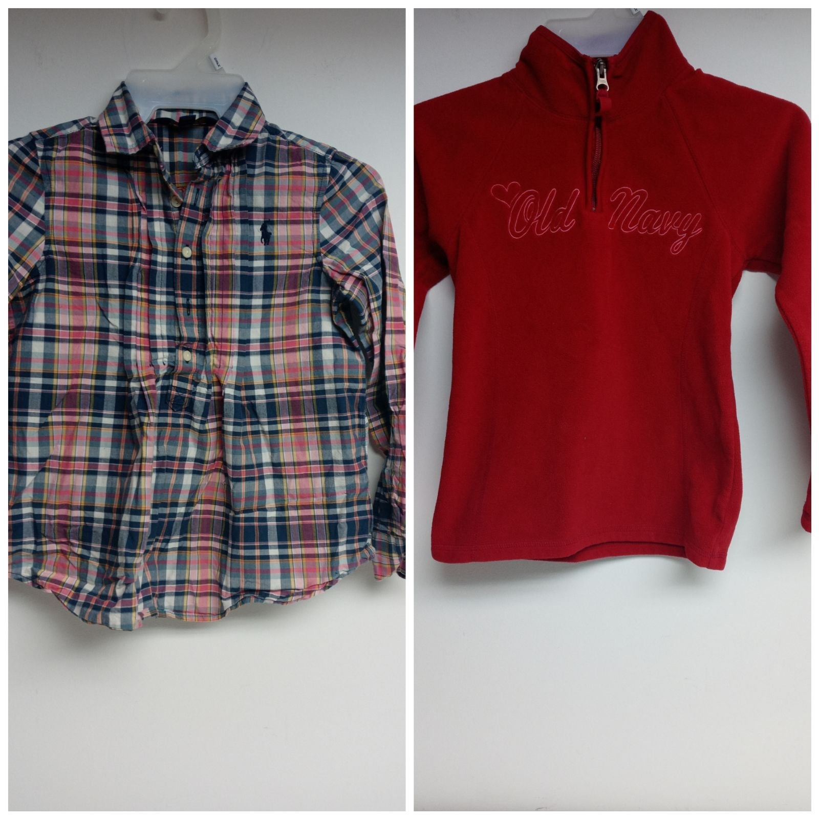Lot of 2 tops Girls size 8