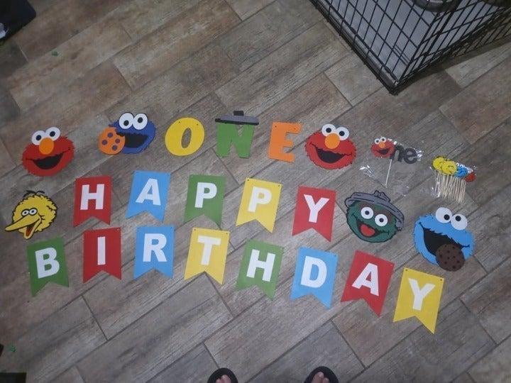 61 piece Sesame Street 1st Birthday Part