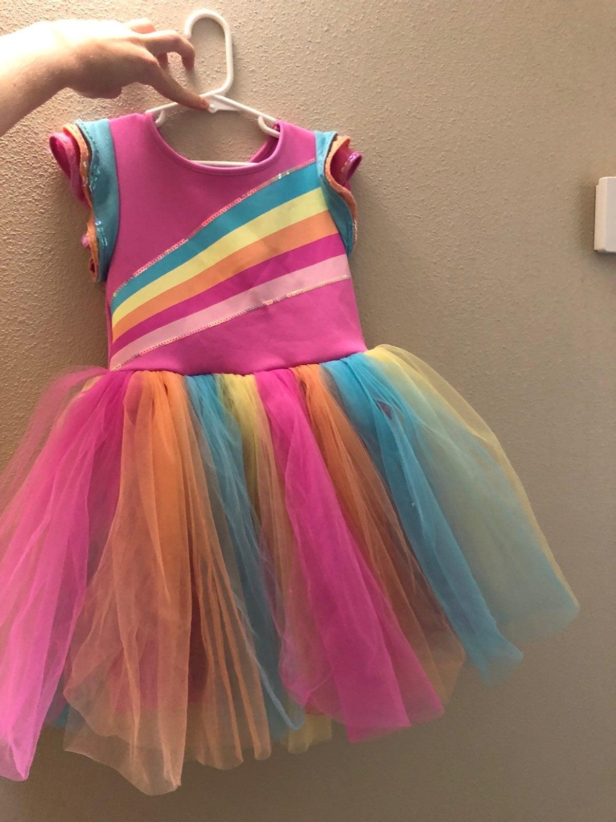 Jojo Siwa rainbow dress.