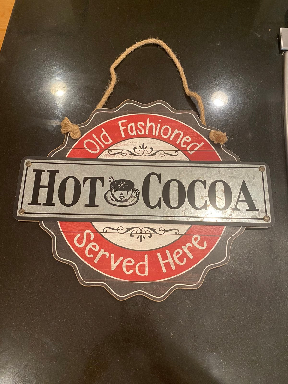 """Sign Old Fashioned Hot Cocoa 13"""" x 16"""""""