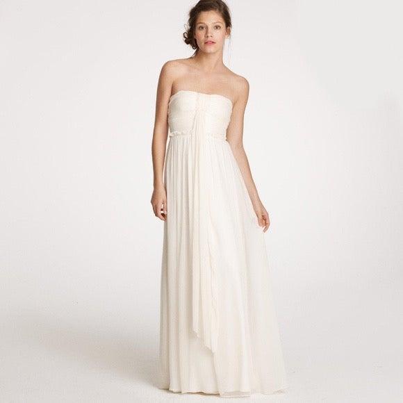 J CREW NWT Silk Chiffon Whitney Gown 8