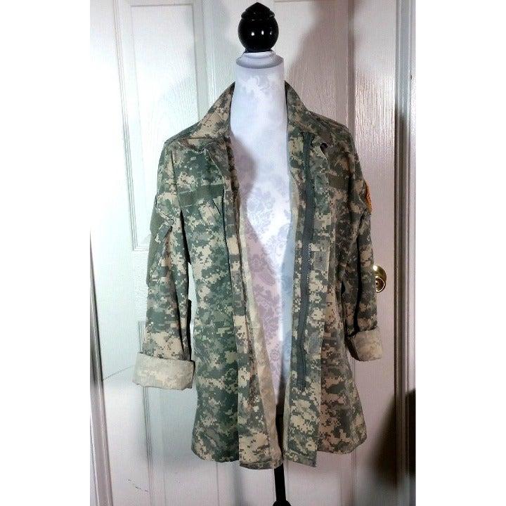 Two Military Digital Camo BDU Shirt M
