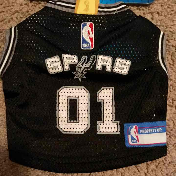 San Antonio Spurs NBA Dog Mesh Jersey L