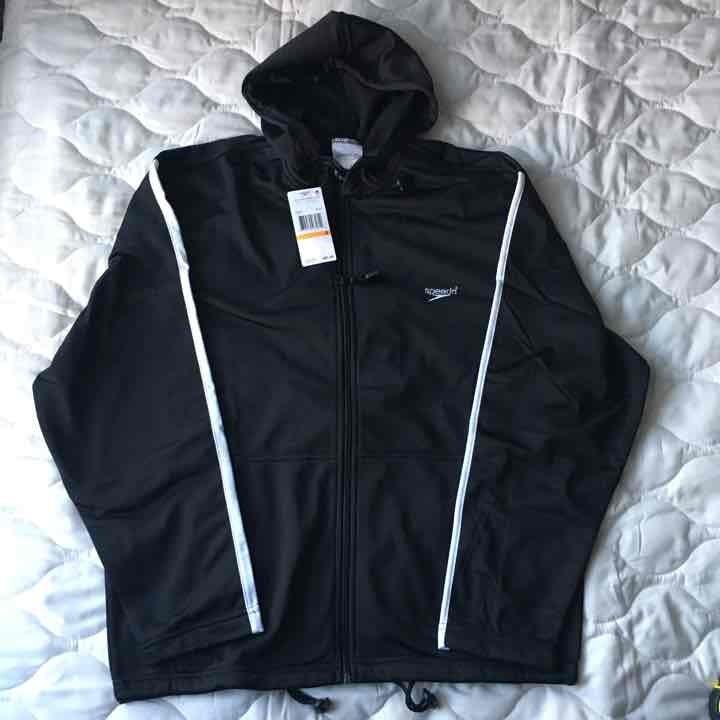 NWT men's Speedo warm up jacket, size S