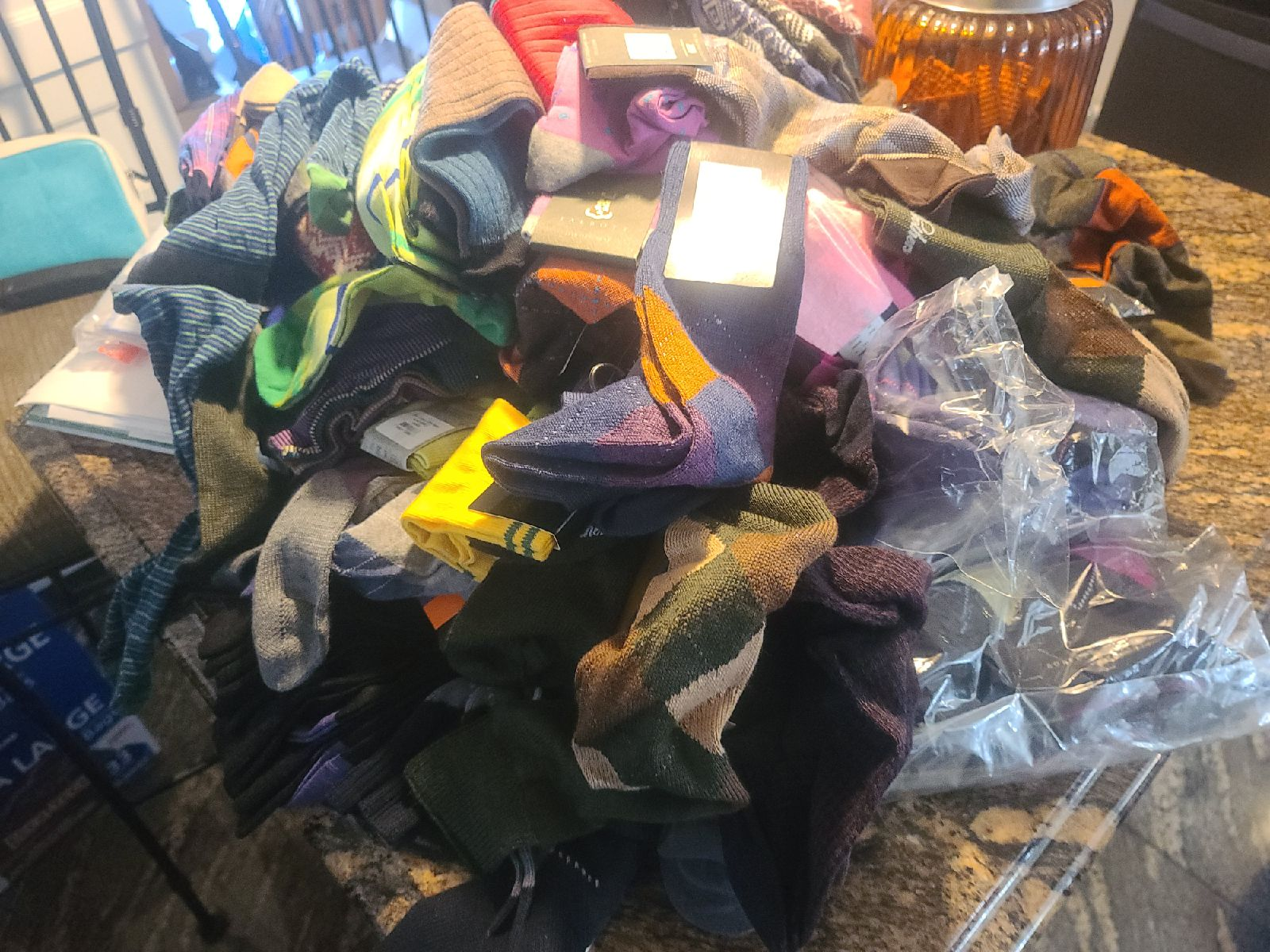 100 pair of socks Brand names brand new