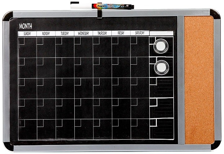 Metallic Framed Magnetic Month Calendar