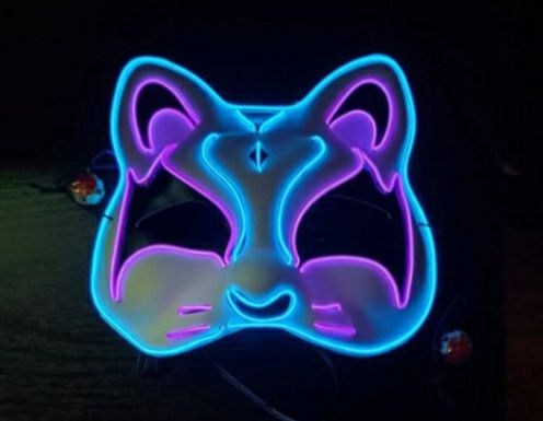 Kitty Cat Cosplay Glow Mask