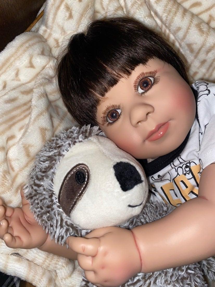 """22"""" Brown Eyes Toddler Baby Boy"""