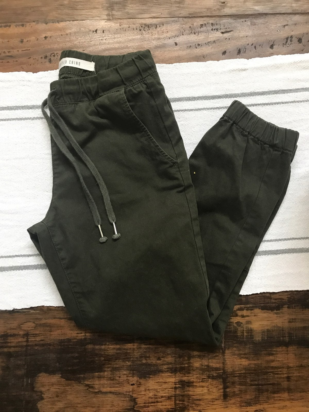 Cotton On Olive Green Cuffed Chino