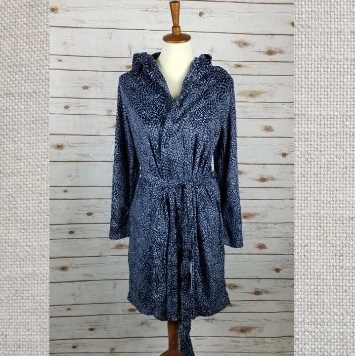 New MAIDENFORM sz M hooded fleece robe