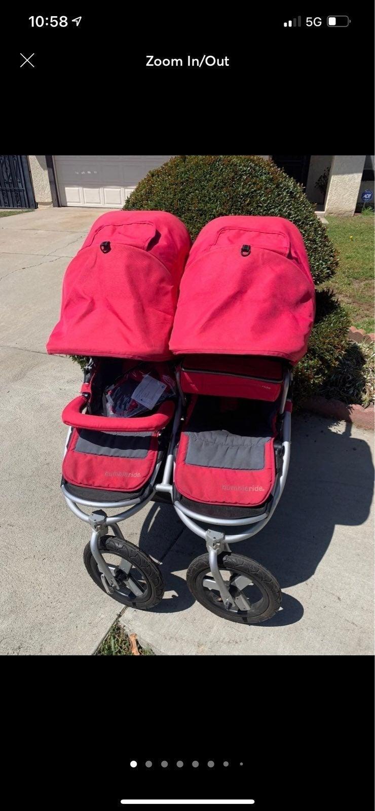 Bumbleride indie twin pink stroller