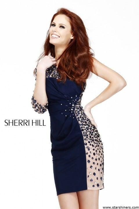 Sherri Hill Black Crystal Mini 11037