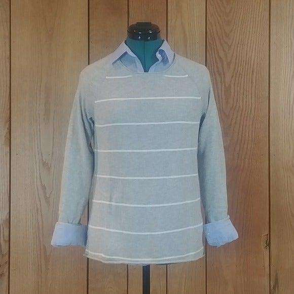 Sonoma Gray Ragland Pullover Sweater XS