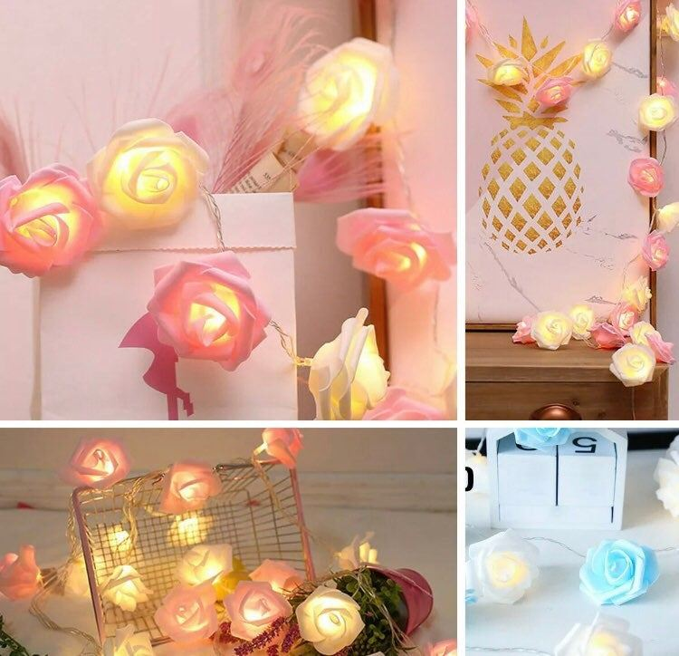 New 3m 20 LED Rose Flower Lights String