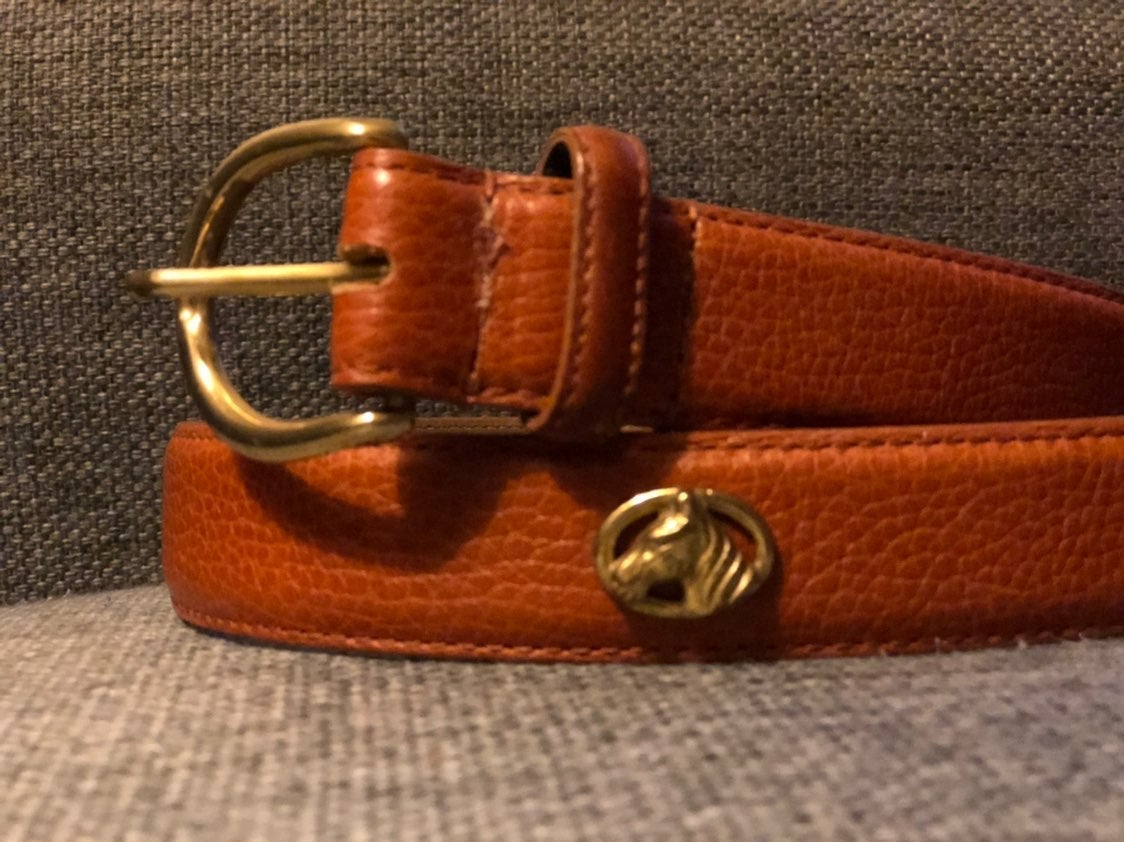 Womens Talbots Brown Leather Horse Belt