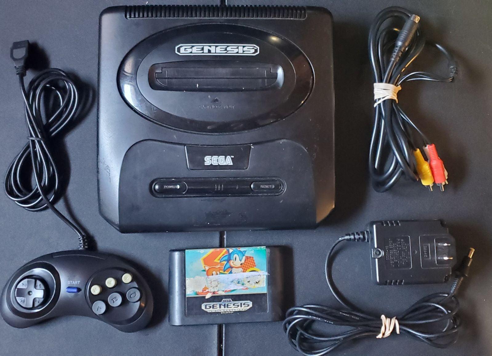 Sega Genesis Model 2 Complete w/ Sonic 2