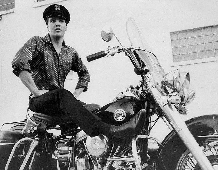 Elvis Presley Harley Davidson 8x10 photo