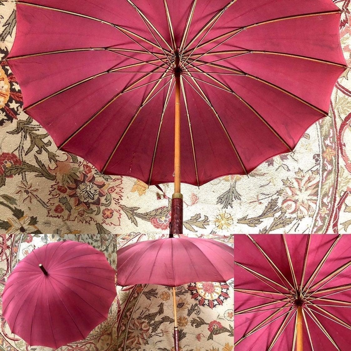Steampunk Antique Silk Parasol w Cover