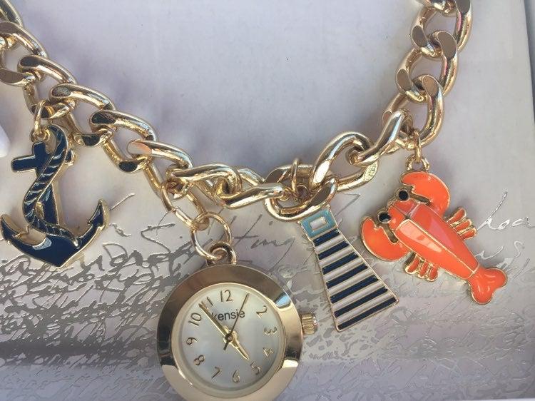 KENSIE beach Charm Bracelet Watch