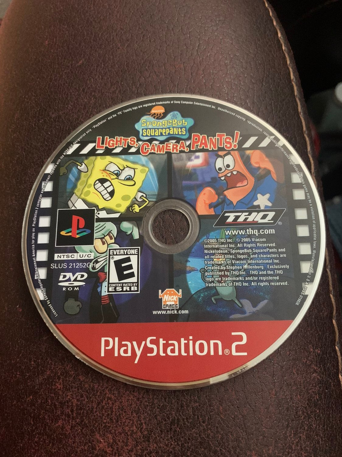 PS2 SpongeBob Lights Camera Pants