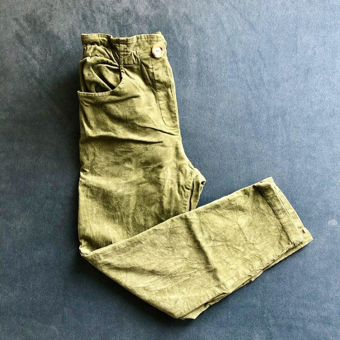 KIDS ZARA Corduroy Paperbag Waist Pants