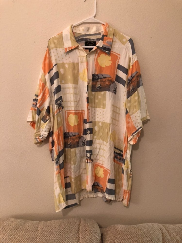 Inserch Rayon Bright Button Up Shirt XL