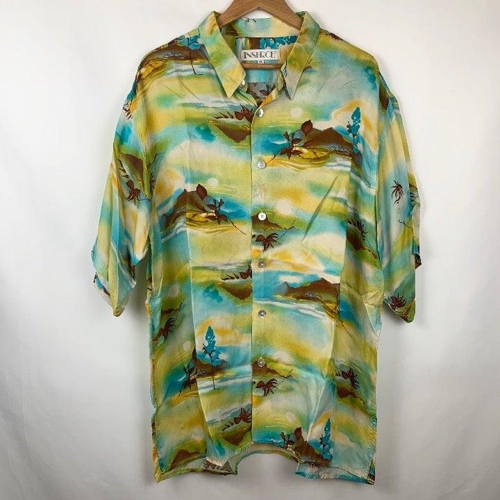 Inserch Sunset Hawaiian Beach Shirt