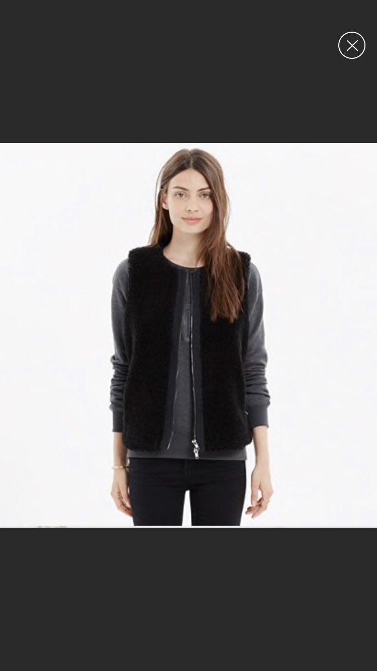 Madewell Sherpa Faux Fur Vest