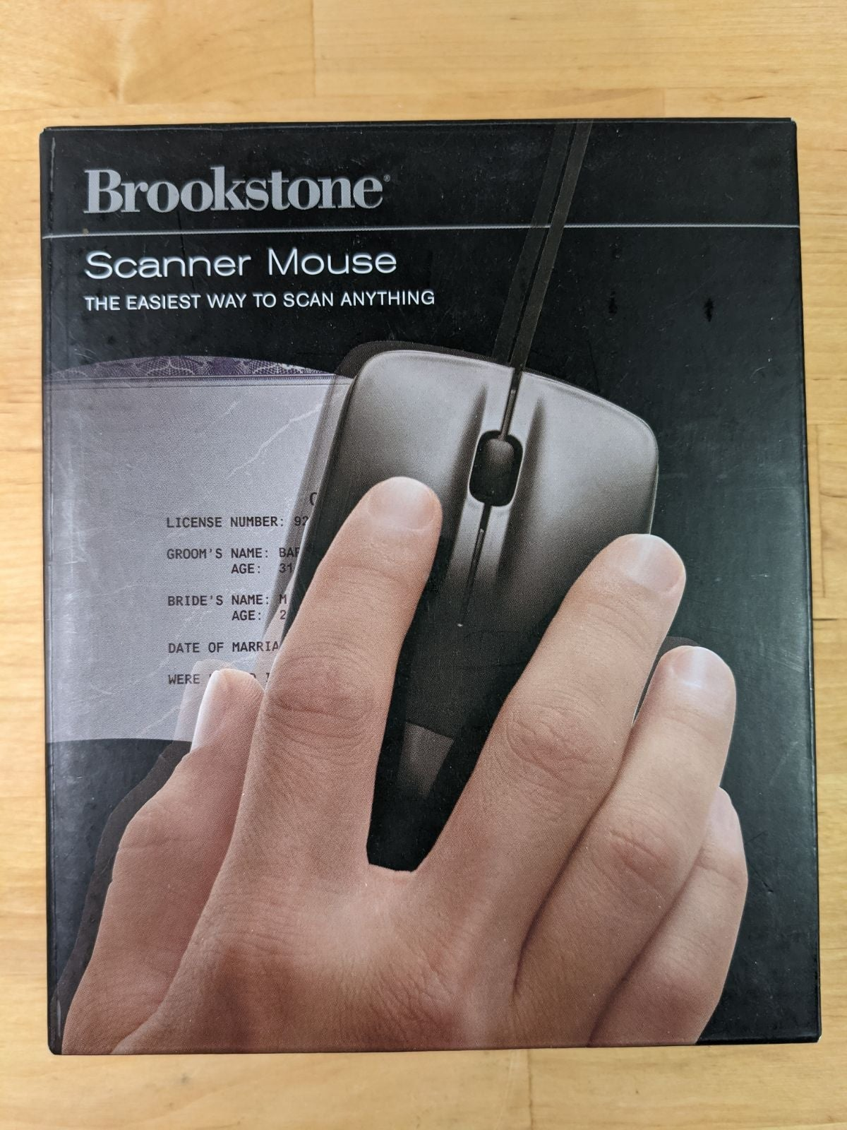 Brookstone Scanner Mouse, New