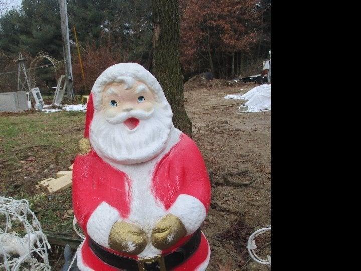 "General foam vintage blow mold Santa 31"""