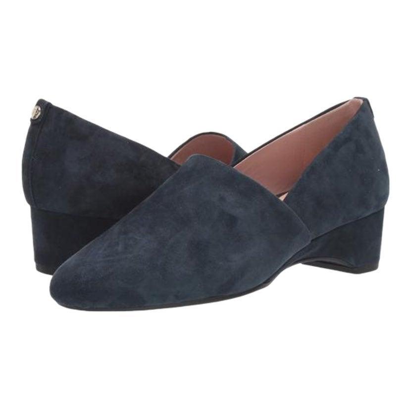 Taryn Rose Brenda Midnight Suede Loafers