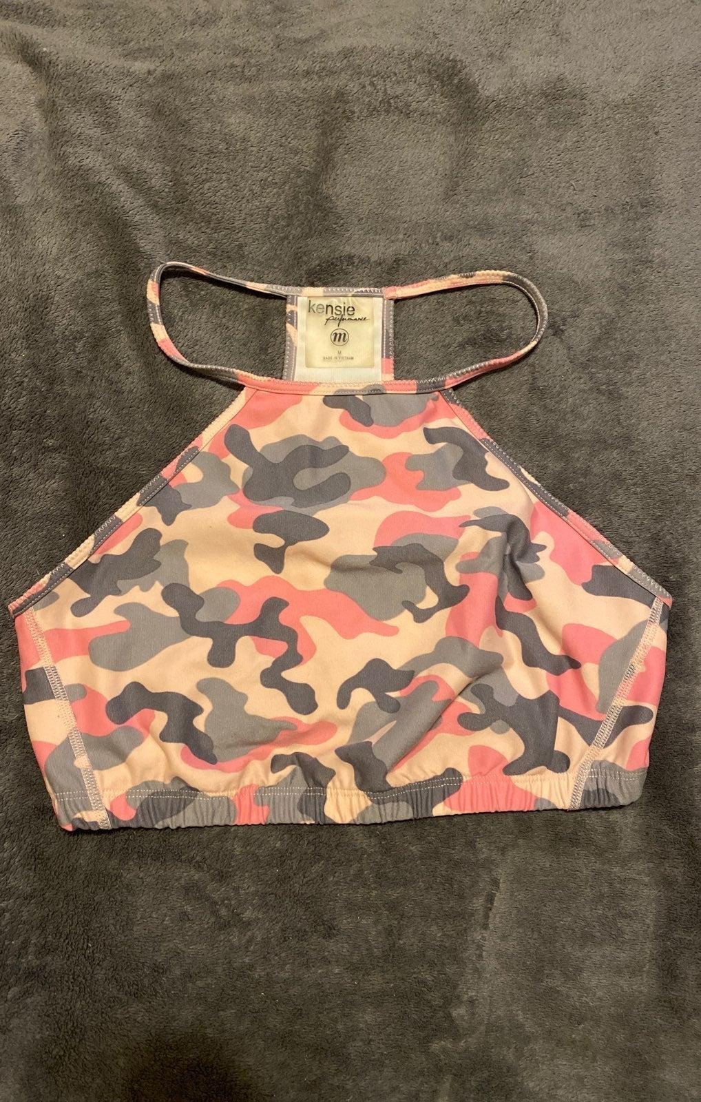 Kensie Medium Pink Camoflauge Top $40