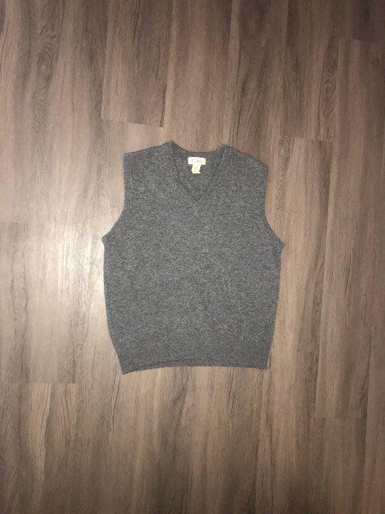 L.L. Bean New Wool Gray Sweater Vest