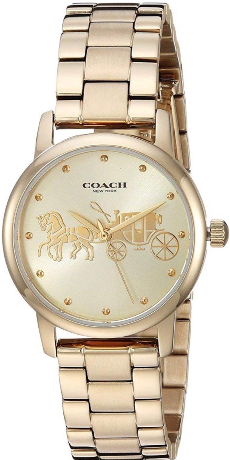Coach New York Gold Women's Watch.