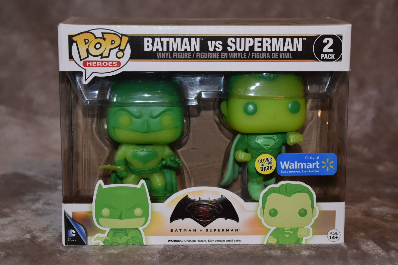 Funko Pop Batman Vs Superman 2 pack Glow