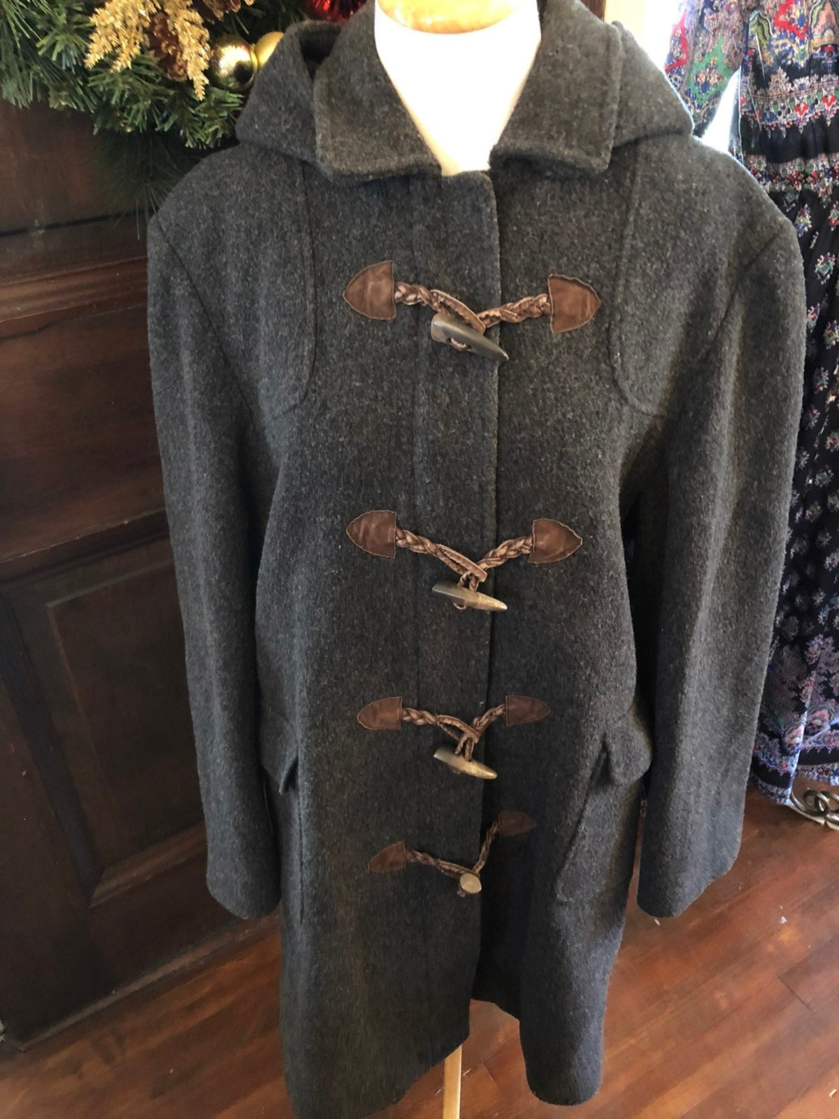 TALBOT'S WOOL HOODED COAT SIZE 14!!!